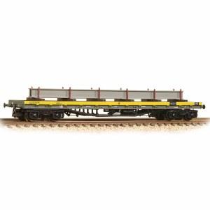 Graham Farish N 377-603A 80 Tonne glw BDA Bogie Bolster Wagon Departmental Yellow with Load