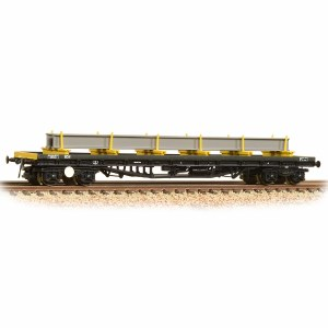 Graham Farish N 377-604 80 Tonne glw BDA Bogie Bolster Wagon BR Railfreight Distribution Metals Sector with Load