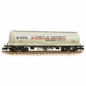 Graham Farish N 377-676B 100 Tonne JPA Cement Wagon VTG 'Castle Cement' Grey