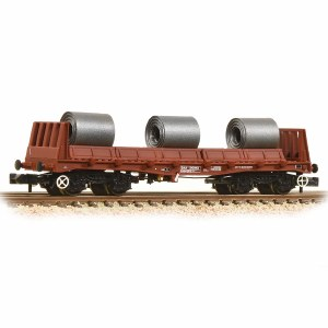 Graham Farish N 377-903 BAA Steel Carrier Wagon with Coils BR Brown
