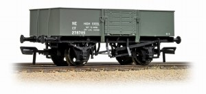 Graham Farish N 377-954A 13 Ton H/Sided Steel Wagon (Smooth Sides) Wooden Door LNER Grey