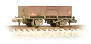 Graham Farish N 377-955 13 Ton High Sided Steel Wagon (Chain Pockets) BR Bauxite (Early) Weathered