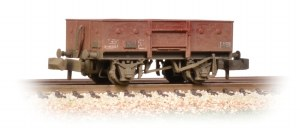 Graham Farish N 377-956 13 Ton High Sided Steel Wagon (Chain Pockets) BR Bauxite (Late) Weathered