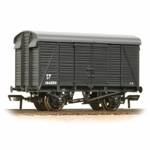 Bachmann OO 38-083A 12 Ton Southern 2+2 Planked Ventilated Van GWR Grey