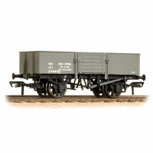 Bachmann OO 38-329A 13 Ton H/Sided Steel Wagon (Smooth Sides & Wooden Doors) LNER Grey
