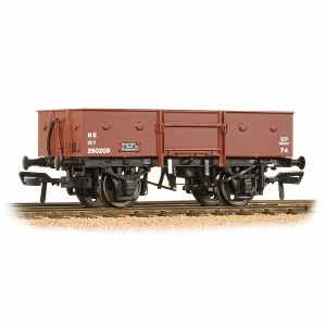 Bachmann OO 38-331 13 Ton H/Sided Steel Wagon (Chain Pockets) LNER Grey