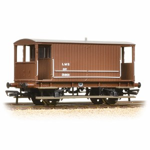 Bachmann OO 38-553A Midland 20T Brake Van LMS Bauxite (without Duckets)