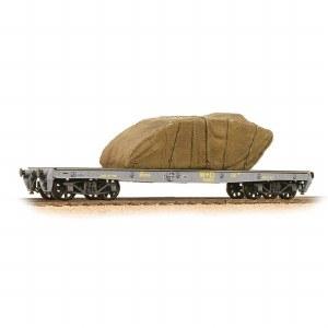 Bachmann OO 38-740 War Office 'Parrot' Bogie Wagon W^D with Sheeted Tank Load