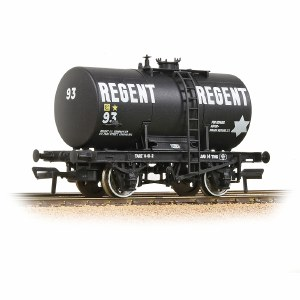 Bachmann OO 38-780 14T Class B Anchor-Mounted Tank Wagon 'Regent Oil' Black