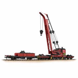 Bachmann OO 38-803 Ransomes & Rapier 45 Ton Breakdown Crane BR Red