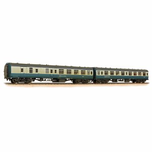 Bachmann OO 39-003 BR MK1 Twin Coach Pack (SK & BSK) BR Blue & Grey with Network SouthEast Flashes '18704' & '35280' Weathered
