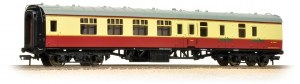 Bachmann OO 39-077F Mk1 BSK Brake Second Corridor BR Crimson & Cream