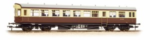 Bachmann OO 39-580 Hawksworth Auto-Trailer BR (WR) Chocolate & Cream