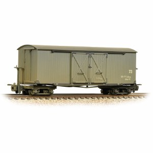 Bachmann Narrow Gauge OO9 393-026A Bogie Covered Goods Wagon Nocton Estates L. R. Grey - Weathered