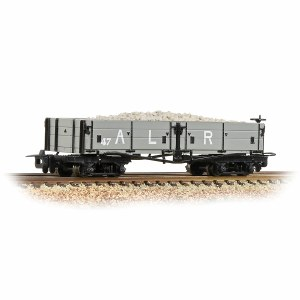 Bachmann Narrow Gauge OO9 393-052A Open Bogie Wagon Ashover L. R. Grey - Includes Wagon Load