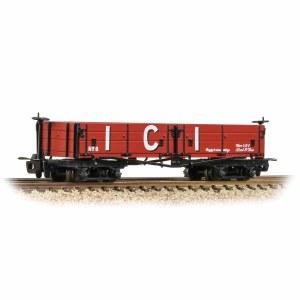 Bachmann Narrow Gauge OO9 393-056 Open Bogie Wagon 'ICI' Red