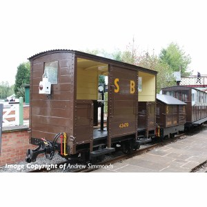Bachmann Narrow Gauge OO9 393-101 RNAD Open-End Brake Van Statfold Barn Railway Brown