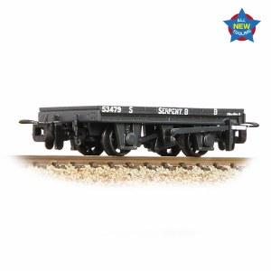 Bachmann Narrow Gauge OO9 393-176 RNAD Flat Wagon Statfold Barn Railway Grey 'Serpent B'