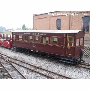 Bachmann Narrow Gauge OO9 394-025 Bogie Coach Ashover Railway Crimson
