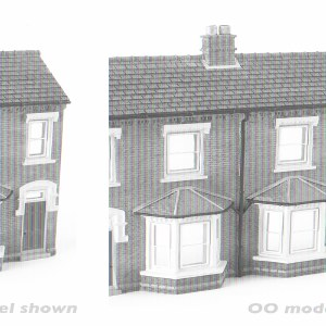 Graham Farish N 42-202 Low Relief Front Terraced Houses