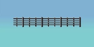 Ratio OO 425 Lineside Fencing black 4 bar