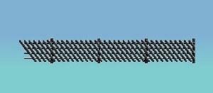 Ratio OO 427 LMS MR Station Fencing black