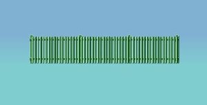 Ratio OO 431 Picket Fencing green straight only