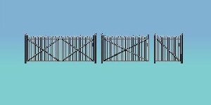 Ratio OO 435 Spear fencing gates and ramps
