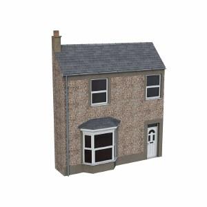 Bachmann OO 44-0203 Low Relief Pebble Dash Terrace House