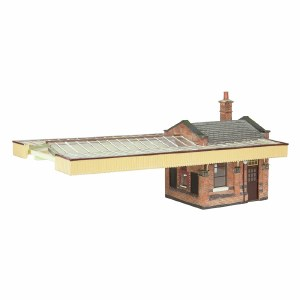 Bachmann OO 44-117B Great Central Station Booking Office with Canopy Brown & Cream