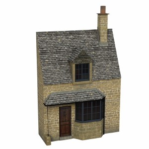 Bachmann OO 44-295 Low Relief Honey Stone Cottage