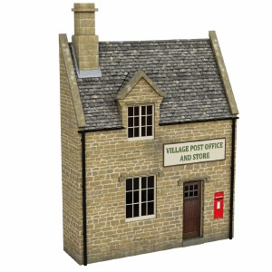 Bachmann OO 44-296 Low Relief Honey Stone Post Office and Shop
