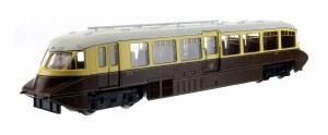 Dapol OO 4D-011-005 Streamlined Railcar 12 Lined Chocolate & Cream GWR Monogram & Valance