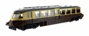 Dapol OO 4D-011-009 Streamlined Railcar 16 Lined Chocolate & Cream GWR Twin Cities