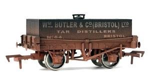 Dapol OO 4F-032-016 12T Rectangular Tank Wagon 73 WM Butler & Co (Bristol) Ltd Tar Distillers Weathered