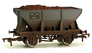 Dapol OO 4F-033-012 24T Steel Ore Hopper Wagon B433419 BR Grey Weathered