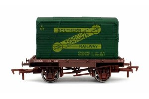 Dapol OO 4F-037-006 Conflat & Container SR K584 Weathered