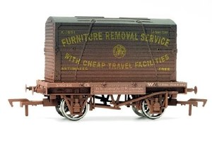 Dapol OO 4F-037-008 Conflat & Container GWR K-1674 Weathered