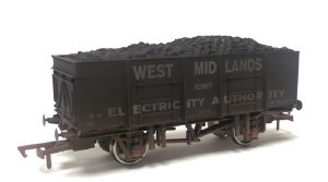 Dapol OO 4F-038-103 20T (21T glw) Steel Mineral Wagon West Midland Joint Electricity Authority Weathered