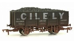 Dapol OO 4F-038-105 20T (21T glw) Steel Mineral Wagon Cilely Collieries Limited Weathered