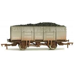 Dapol OO 4F-038-109 20T Steel Mineral Wagon Cambrian Wagon Works Weathered