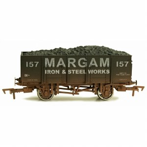 Dapol OO 4F-038-111 20T Steel Mineral Wagon Margam 157 Weathered