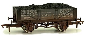Dapol OO 4F-040-014 4 Plank Wagon Hudson Bros Weathered