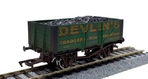Dapol OO 4F-051-052 5 Plank Devlins 12 Weathered