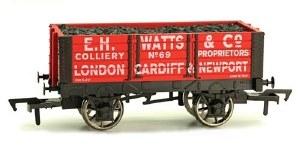 Dapol OO 4F-052-011 5 Plank Wagon 9' Wheelbase E H Watts and Co