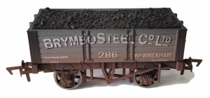 Dapol OO 4F-052-034 5 Plank 9 FT W/B Brymbo Steel 286 Weathered