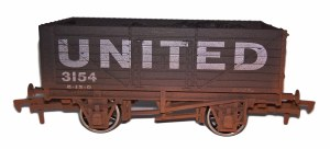 Dapol OO 4F-071-143 7 Plank United 3154 Weathered