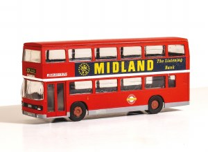 Model Scene OO 5501 Leyland Olympian Double Deck Bus Kit - London Buses, Riverside Livery