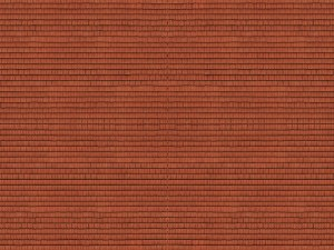 Noch N 56965 Roof Tiles Red 3D Cardboard Sheet 25 x 12.5cm