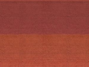Noch N 56970 Plain Tiles Red 3D Cardboard Sheet 25 x 12.5cm